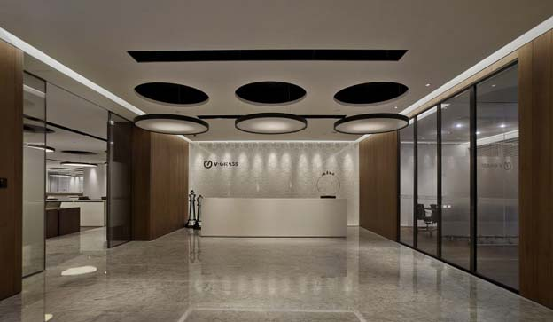 v grass品牌服装办公总部装修设计工程
